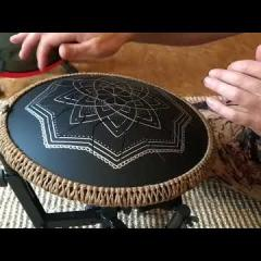 Guda Coin Drum, double sided, played with hands