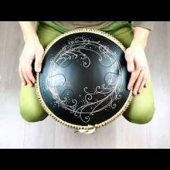 Guda Coin Brass overtone tongue pan. Zen Trance/Celestial scale