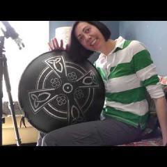 'Clover' on Guda double  Celtic Minor. Janis Wilson Hughes