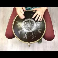 Guda Coin Brass overtone tongue pan. Kurd/Mystic scale