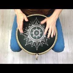 Guda Coin Brass overtone tongue pan. Celtic minor in D/Dorian scale