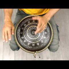 Guda Coin Brass overtone tongue pan. Dorian/Aurora scale