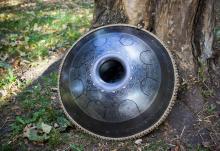 Guda steel tongue drum Lotos design