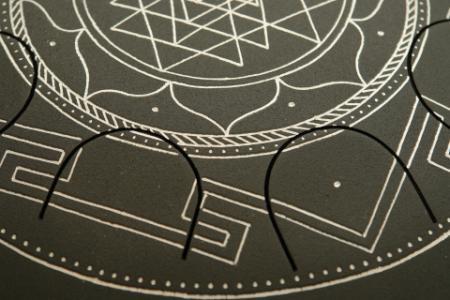 """""""Фризби"""", Шри-Янтра, черное матовое покрытие. фото 3.крупно"""