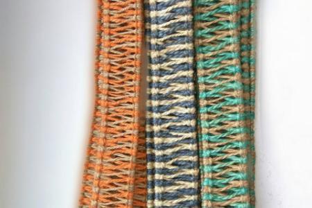 Плетеный аксессуар для хэндпанов и язычковых барабанов двуцветный 16