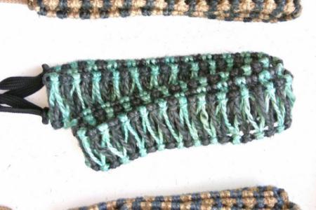 Плетеный аксессуар для хэндпанов и язычковых барабанов двуцветный 17