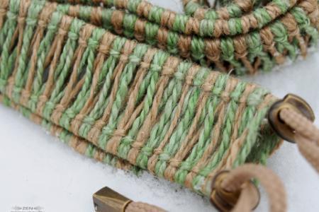 Плетеный аксессуар для хэндпанов и язычковых барабанов двуцветный 15