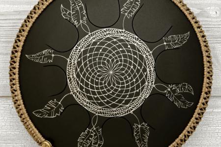 """Фризби. Дизайн """"Ловец снов"""", черное матовое покрытие. фото 1"""