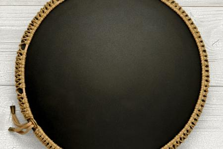 """Фризби. Дизайн """"Ловец снов"""", черное матовое покрытие. фото 3.низ"""