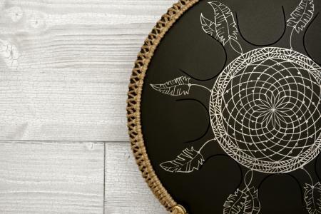 """Фризби. Дизайн """"Ловец снов"""", черное матовое покрытие. фото 2"""