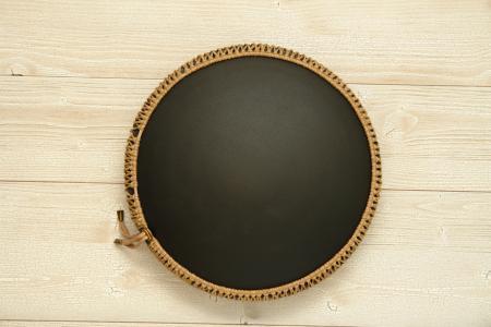 """Фризби"", Шри-Янтра, черное матовое покрытие. фото 5. вид снизу"